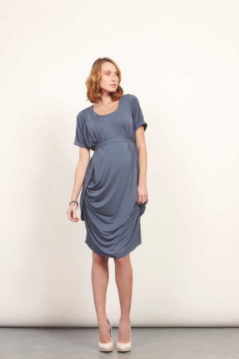 SS13 PreviewKeungzai Ultra Soft Drape Side Dress available in white and navy
