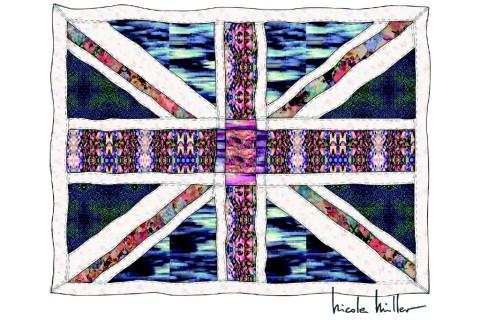 Nicole Miller's Union Jack Quilt, designed for the Price of Cambridge