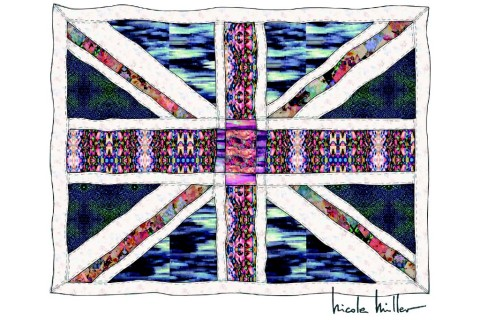 Nicole Miller's Union Jack Quilt, designed for the Price of Cambridge